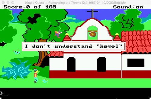 "I don't understand ""Hegel"". (Eugen Pfister / King's Quest 2 / 14.07.2016)."