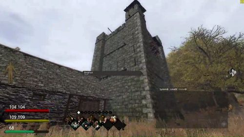 Screenshot aus Life is Feudal: Der vollendete Bergfried.