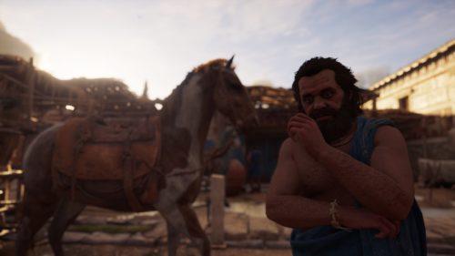 Ist das Sokrates? Medienkompetenz und Dekonstruktion bleiben zentral. - Aufgenommen mit dem Foto-Modus in Assassin's Creed Odyssey