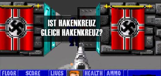 Ist Hakenkreuz gleich Hakenkreuz? | Screenshot aus Wolfenstein 3D, bearbeitet vom Autor